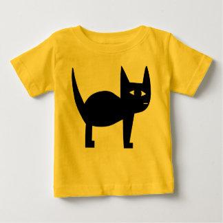 Camiseta De Bebé Gato negro