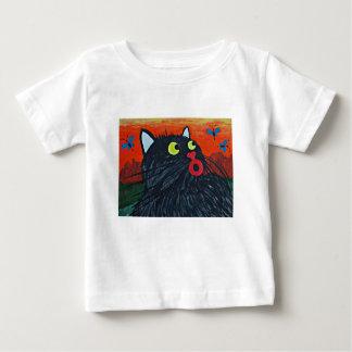 Camiseta De Bebé Gato y las moscas