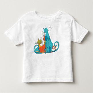 Camiseta De Bebé Gatos camuflados