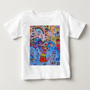 Camiseta De Bebé Gatos MEXICANOS Calavera del Mariachi de la FIESTA 76290369dc2
