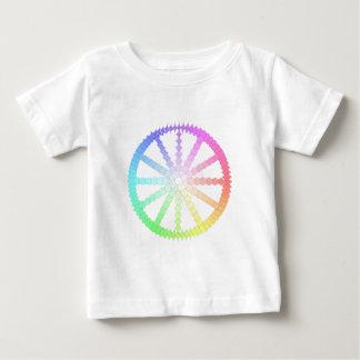 Camiseta De Bebé geometría de la rueda de la evolución del polígono