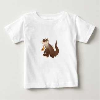 Camiseta De Bebé Goldfish del n de la nutria