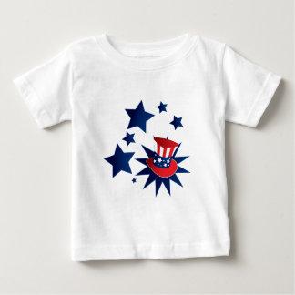 Camiseta De Bebé Gorra y estrellas del tío Sam