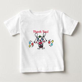 Camiseta De Bebé Gracias conejo feliz