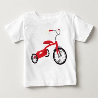Camiseta De Bebé Gráfico rojo del triciclo