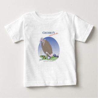 Camiseta De Bebé Gridiron - golpeado con el pie adentro la hierba,