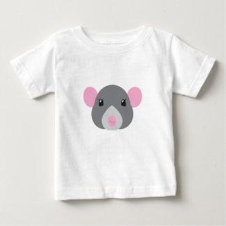 Camiseta De Bebé gris de la cara de la rata del chica