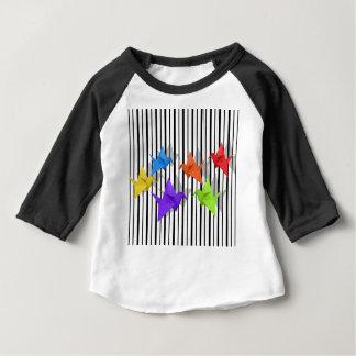 Camiseta De Bebé Grúas de papel