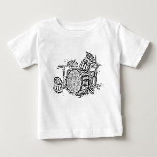Camiseta De Bebé Grunge de la banda de rock de la batería