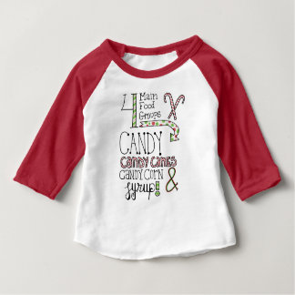 Camiseta De Bebé Grupos de alimentos azucarados