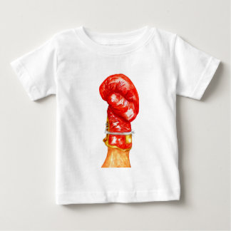 Camiseta De Bebé Guante de boxeo rojo