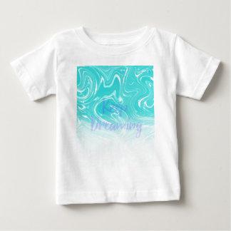 Camiseta De Bebé Guarde el soñar de tipografía en diseño de mármol
