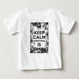Camiseta De Bebé GUARDE la CALMA que ÉL CHRISMAS ES COMING.ai