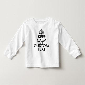 Camiseta De Bebé Guarde la calma y cree sus los propios hacen para