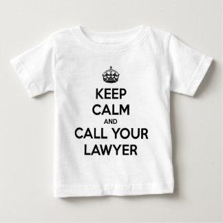 Camiseta De Bebé Guarde la calma y llame a su abogado