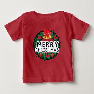 Camiseta De Bebé Guirnalda del navidad
