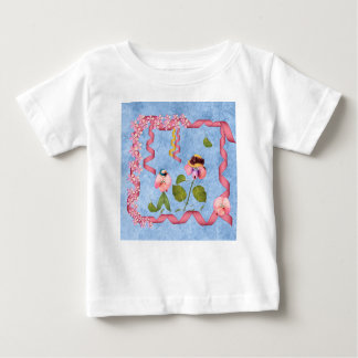 Camiseta De Bebé Guisantes de olor chistosos rosados y gente de