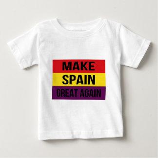 Camiseta De Bebé Haga España a gran otra vez - Bandera de España