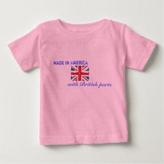 Camiseta De Bebé Hecho en América con las piezas británicas
