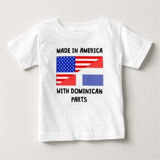 Camiseta De Bebé Hecho en americano con las piezas dominicanas