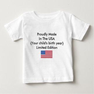 Camiseta De Bebé Hecho orgulloso en el personalizar de la edición