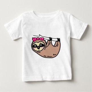 Camiseta De Bebé Hembra linda de la pereza
