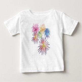 Camiseta De Bebé Hermoso moderno colorido de la diversión del fuego