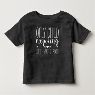Camiseta De Bebé Hijo único que expira - blanco