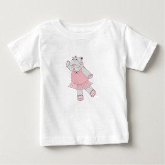 Camiseta De Bebé hipopótamo de la bailarina del illusima