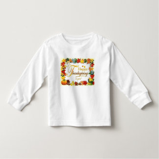 Camiseta De Bebé Hojas coloridas de la acción de gracias feliz del