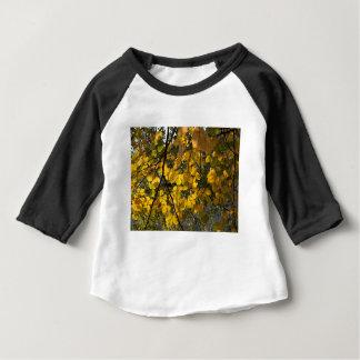 Camiseta De Bebé Hojas de otoño amarillas y verdes