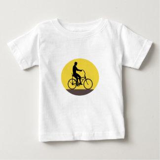 Camiseta De Bebé Hombre que monta el óvalo fácil Retr de la silueta