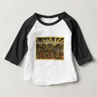 Camiseta De Bebé Horizonte de New York City del vintage
