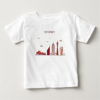Camiseta De Bebé Horizonte del Doodle de Sydney, Australia el |