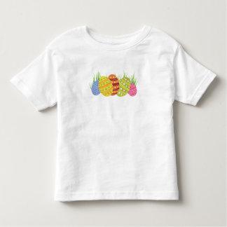 Camiseta De Bebé Huevos de Pascua retros en la hierba