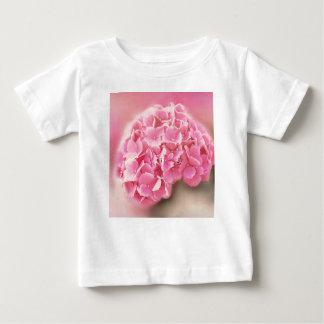 Camiseta De Bebé hydrangea rosado en la floración