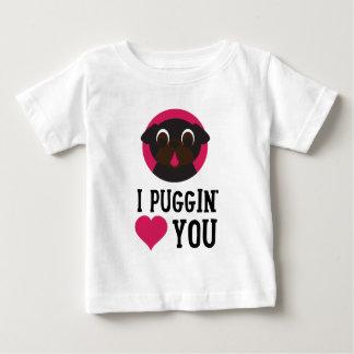 Camiseta De Bebé I amor de Puggin usted ennegrece barro amasado