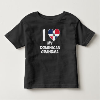 Camiseta De Bebé I corazón mi abuela dominicana
