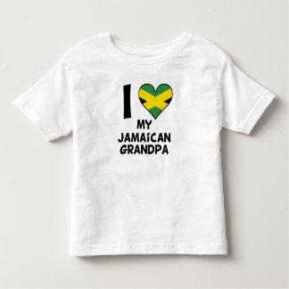 Camiseta De Bebé I corazón mi abuelo jamaicano