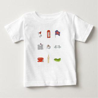 Camiseta De Bebé I corazón Reino Unido, amor británico, señales de