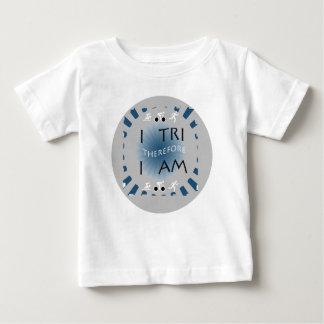 Camiseta De Bebé I tri por lo tanto soy Triathlon