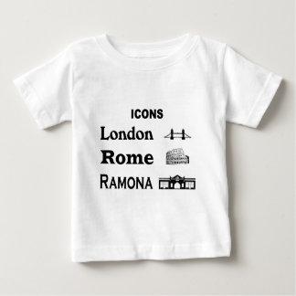 Camiseta De Bebé Icono-Londres-Roma-Ramona