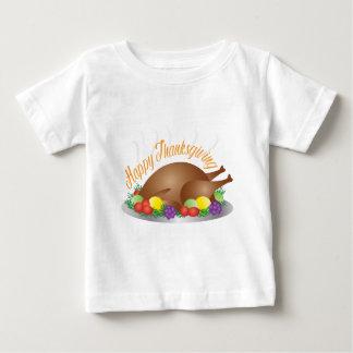 Camiseta De Bebé Ilustracion cocido día de la cena de Turquía de la