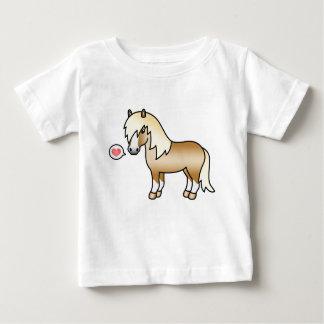 Camiseta De Bebé Ilustracion del potro de Shetland del Palomino y