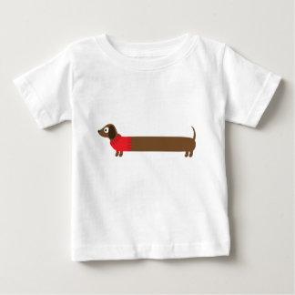 Camiseta De Bebé Ilustracion largo lindo del Dachshund