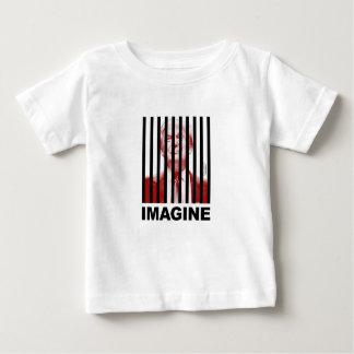 Camiseta De Bebé Imagínese el triunfo detrás de barras