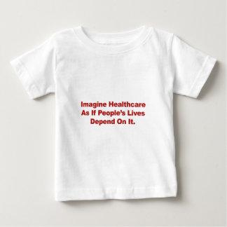 Camiseta De Bebé Imagínese las vidas de la gente de la atención