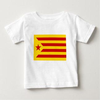 Camiseta De Bebé Independentista Catalana de Estelada Roja - de