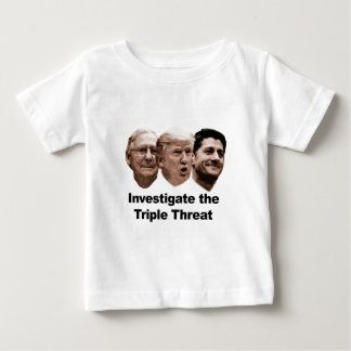 Camiseta De Bebé Investigue la amenaza triple
