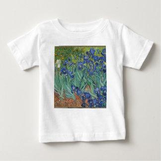 Camiseta De Bebé Iris de Vincent van Gogh que pintan el trabajo de
